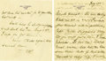 Autographs:U.S. Presidents, Eleanor Roosevelt: Autograph Letter Signed as First Lady....(Total: 2 Items)