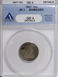 Early Dimes: , 1807 10C --Damaged--ANACS. Good 4 Details. JR-1. NGC Census:(1/194). PCGS Population (5/275). Mintage: 165,000. Numismedia...