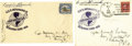 Autographs:U.S. Presidents, Franklin D. Roosevelt: Pair of U.S.S. Indianapolis Postal Covers Signed as President.... (Total: 2 Items)