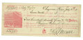 "Miscellaneous:Ephemera, Autograph Document Signed ""Asa Shinn Mercer"" Johnson County Wars,Wyoming Territory, 1888. ..."