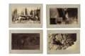 Western Expansion:Cowboy, Lot of Four Photographs of Men with Weapons ca 1870s-1880s....(Total: 4 Items)