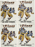 Football Collectibles:Programs, 1962 New York Titans Programs Lot of 4. The forerunner of the New York Jets, the Titans began in 1960 as a charter member o...
