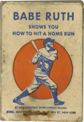"""Baseball Collectibles:Others, Babe Ruth Flip Book. Rare flip book """"Babe Ruth Shows You How To HitA Home Run"""". This is an advertisement for Wheaties and f..."""