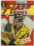 Golden Age (1938-1955):Superhero, Flash Comics #47 Mile High pedigree (DC, 1943) Condition: NM....
