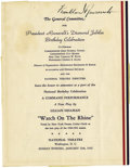 Autographs:U.S. Presidents, Franklin D. Roosevelt: Theatre Program Signed as President....