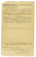 Transportation:Railroad, Court Document Two Men Hold Up Santa Fe Railroad Belonging to WellsFargo & Co 1893....