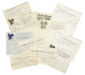Western Expansion:Cowboy, Miles City, Custer Co., Montana Territory: Eleven Invoices andReceipts, 1882-1911,... (Total: 11 Items)