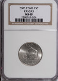 Statehood Quarters, 2005-P 25C Kansas Satin MS69 NGC. Numismedia Wsl. Price forNGC/PCGS coin in MS6...