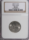 Statehood Quarters: , 2001-D 25C New York MS68 NGC. NGC Census: (41/0). PCGS Population (18/0). Numismedia Wsl. Price for NGC/PCGS coin in MS68:...