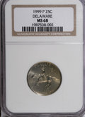 Statehood Quarters: , 1999-P 25C Delaware MS68 NGC. NGC Census: (31/0). PCGS Population(21/1). Numismedia Wsl. Price for NGC/PCGS coin in MS68:...