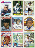 Autographs:Sports Cards, 1980s Signed Baseball Cards Group Lot of 9 . Nine Topps and Fleerbaseball cards signed by some of the greats in baseball. ...