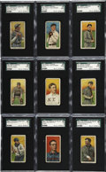 Baseball Cards:Lots, 1909-11 T206 Cards, SGC-Graded Group Lot of 21. From the thrillingtobacco issue celebrated in the hobby as one of the fine...