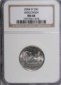 Statehood Quarters, 2004-D 25C Wisconsin MS68 NGC. PCGS Population (352/18). NumismediaWsl. Price for NGC/PCGS coin in MS6...