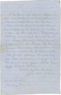 Autographs:Military Figures, Confederate General George E. Pickett Autograph Letter Signed...