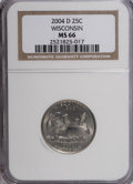 Statehood Quarters, 2004-D 25C Wisconsin MS66 NGC. NGC Census: (0/0). PCGS Population(124/675). Numismedia Wsl. Price for NGC/PCGS coin in MS...