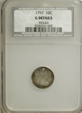 Early Half Dimes, 1797 10C 16 Stars--Holed--NCS. G Details. Mintage: 25,261.(#4260)...