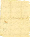 Autographs:Military Figures, Confederate General George E. Pickett Autograph Letter Signed ...