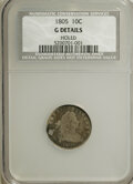 Early Dimes, 1805 H10C --Holed--NCS. G Details. NGC Census: (0/17). PCGSPopulation (2/48). Mintage: 15,600. Numismedia Wsl. Price for NG...