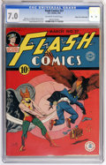 Golden Age (1938-1955):Superhero, Flash Comics #27 Mile High pedigree (DC, 1942) CGC FN/VF 7.0 Off-white to white pages....