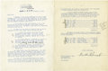 Autographs:U.S. Presidents, Franklin D. Roosevelt: Typed Letter Signed as President with Holographic Addition....