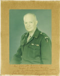 Autographs:U.S. Presidents, Dwight D. Eisenhower: Signed Photograph as General of the Army....