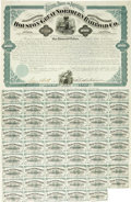 Transportation:Railroad, Houston and Great Northern Railroad Company $1000 Gold Bearing Bond1872....
