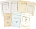 Miscellaneous:Booklets, Six Bound Tracts/Booklets About the South and its ConfederateHeroes. ... (Total: 7 Items)