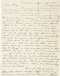 Military & Patriotic:Civil War, Autograph Letter Signed by Ezra Keyser Regarding the Surrender of Galveston. ...