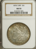 Morgan Dollars: , 1878 7/8TF $1 Strong AU55 NGC. NGC Census: (27/3004). PCGSPopulation (20/4653). Mintage: 544,000. Numismedia Wsl. Price fo...