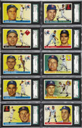 Baseball Cards:Sets, 1955 Topps Baseball Complete Set (206). The 1955 Topps set with itsbrand new horizontal design and brilliant colors is one ...