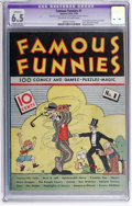 Platinum Age (1897-1937):Miscellaneous, Famous Funnies #1 (Eastern Color, 1934) CGC Apparent FN+ 6.5 Moderate (A) Off-white to white pages....
