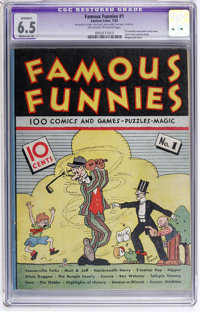 Famous Funnies #1 (Eastern Color, 1934) CGC Apparent FN+ 6.5 Moderate (A) Off-white to white pages