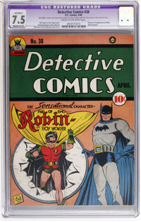 Detective Comics #38 (DC, 1940) CGC Apparent VF- 7.5 Moderate (P) Cream to off-white pages