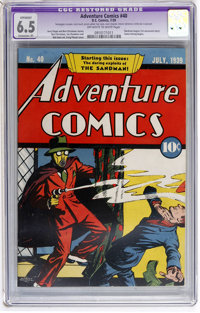 Adventure Comics #40 (DC, 1939) CGC Apparent FN+ 6.5 Extensive (P) Off-white to white pages