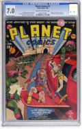 Golden Age (1938-1955):Science Fiction, Planet Comics #1 (Fiction House, 1940) CGC FN/VF 7.0 Cream to off-white pages....