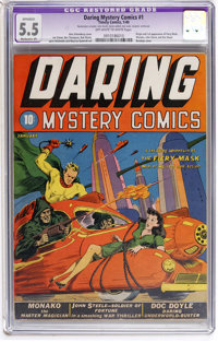 Daring Mystery Comics #1 (Timely, 1940) CGC Apparent FN- 5.5 Moderate (P) Off-white to white pages