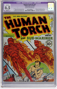 The Human Torch #2 (#1) (Timely, 1940) CGC Apparent FN+ 6.5 Slight (P) Cream to off-white pages
