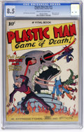 Golden Age (1938-1955):Superhero, Plastic Man #nn (#1) (Quality, 1943) CGC VF+ 8.5 Cream to off-white pages....