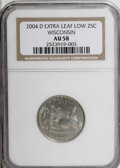 Statehood Quarters, 2004-D 25C Wisconsin Extra Leaf Low AU58 NGC. (#814033)...