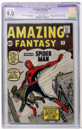 Silver Age (1956-1969):Superhero, Amazing Fantasy #15 (Marvel, 1962) CGC Apparent VF/NM 9.0 Moderate(P) Off-white to white pages....