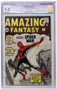 Amazing Fantasy #15 (Marvel, 1962) CGC Apparent VF/NM 9.0 Moderate (P) Off-white to white pages