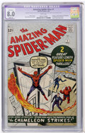 Silver Age (1956-1969):Superhero, The Amazing Spider-Man #1 (Marvel, 1963) CGC Apparent VF 8.0 Slight (P) White pages....