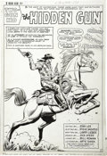 Original Comic Art:Splash Pages, Dick Ayers and Bill Everett (as Bill Roman) - Two-Gun Kid #81,Splash Page 1 Original Art (Marvel, 1966)....