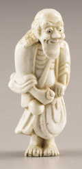 Asian:Japanese, PROPERTY FROM A DALLAS PRIVATE COLLECTION. A JAPANESE PORCELAINNETSUKE . 19th Century. 2-1/2 inches (6.4 cm) high. ...