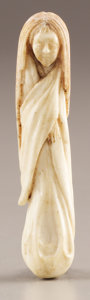Asian:Japanese, PROPERTY FROM A DALLAS PRIVATE COLLECTION. A JAPANESE STAG ANTLERNETSUKE. 20th Century. 3-1/8 inches (7.9 cm) high. ...