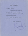Autographs:Celebrities, Vivian Leigh Typed Letter Signed....