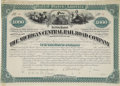 Transportation:Railroad, Michigan Central Railroad Bond Signed by Cornelius Vanderbilt. Onepage, oblong folio, New York, March 10, 1881. First mortg...