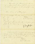 Autographs:U.S. Presidents, Zachary Taylor Signed Document. ...