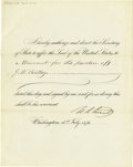 Autographs:U.S. Presidents, Ulysses S. Grant Pardon Signed As President. ...
