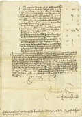 Autographs:Non-American, Isabella I, Queen of Castile Signed Document....